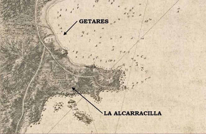 30. Detalle del mapa de Vicente Tofiño de San Miguel