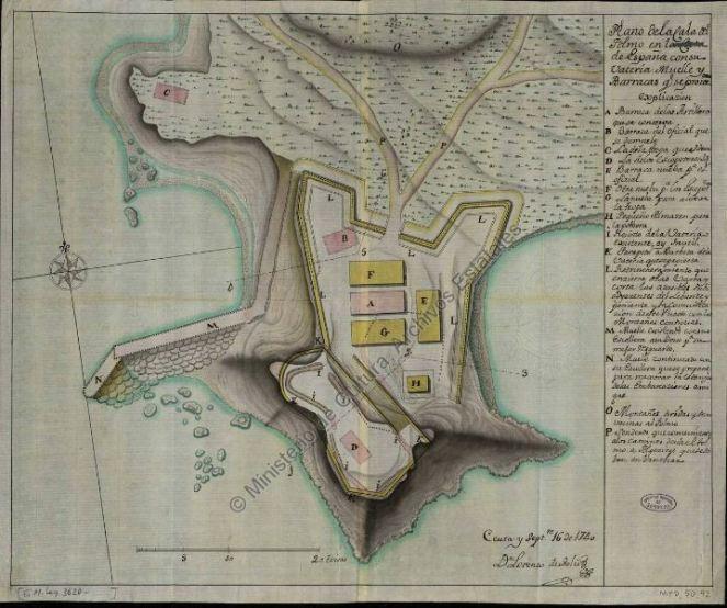 Plano del Fuerte de El Tolmo, de D. Lorenzo de Solís.