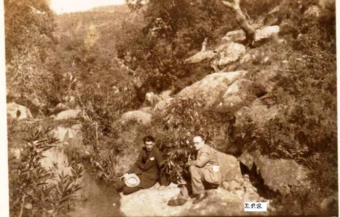 22. Excursión Juan Pérez Arriete. Piedra de los bichitos. Abril 1935