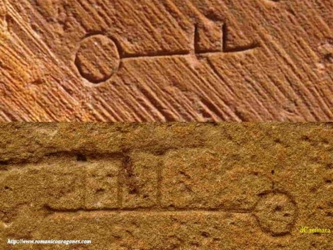 25. Marcas en forma de llaves. Iglesias de Moreruela y la Oliva. Web romanicoaragones